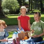 Kinderen eten tijdens de picknick